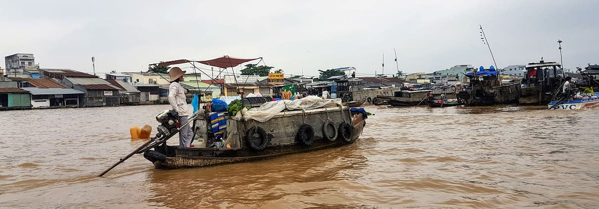 Floating Market Boat Can Tho