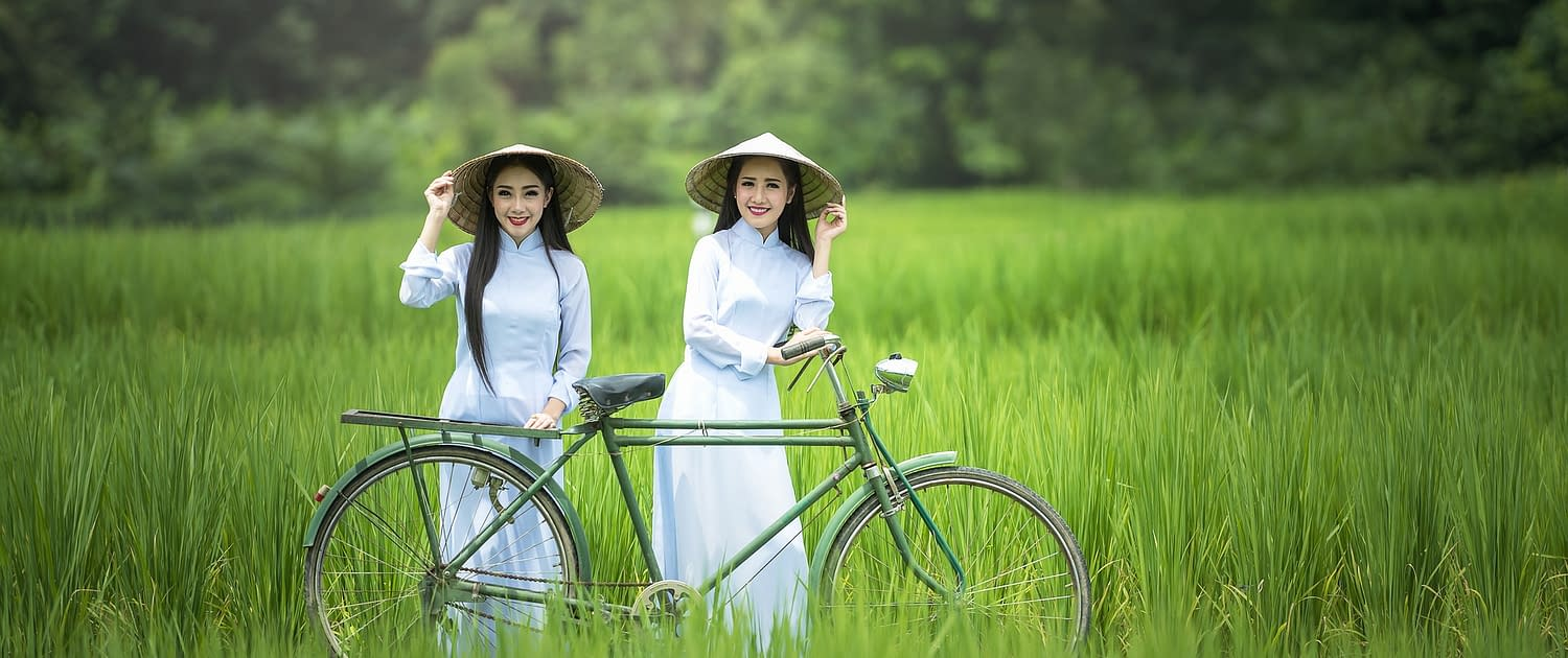 bycicle vietnam ladys