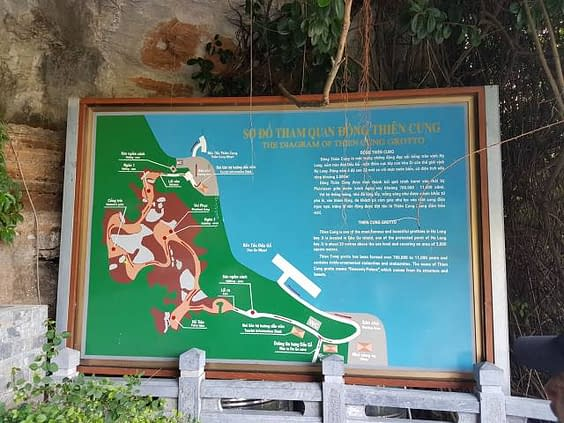 Dong Thien Cung Cave Map