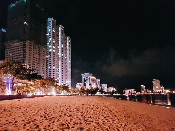 Nha Trang beach by night